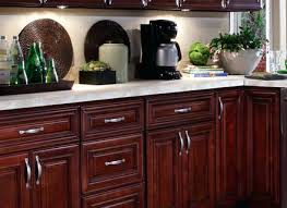 Red Glass Cabinet Knobs Red Oak Kitchen Traditional Kitchen Milwaukee By A Fillinger Red
