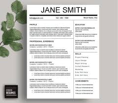 Resume Templates Word Free One Page Resume Template Word Resume Template Word Free Easy