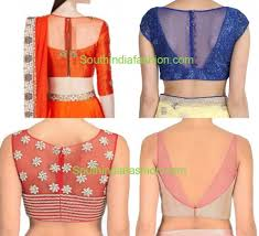net blouse pattern 2015 sheer back neck blouse designs south india fashion