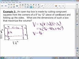 ca calculus bc video lesson 3 7 optimization word problems youtube
