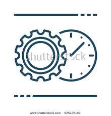 gear clock vector icon meaning stock vector 625436192