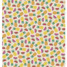 gift wrap paper tropical fruit wrapping paper 5 sheets rex london dotcomgiftshop
