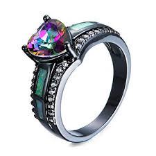 fire opal rings images Fjt jewel rainbow heart zircon white fire opal rings jpg