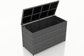 Patio Cushion Storage Bin by Harmonia Living District Wicker Cushion Storage Box Storage And