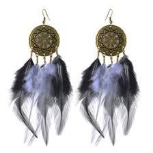 feather earrings nz dangle feather earrings blue nz buy new dangle feather