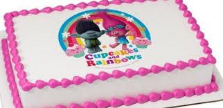 edible cake decorations cupcakes rainbows edible cake decoration topper image