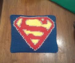 Superhero Rug Butterfly U0027s Creations Superhero Afghan Superman Block 2