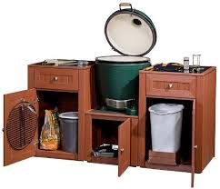 outdoor kitchen outstanding 3 piece set for big green egg all