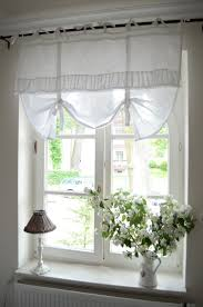 Bathroom Window Curtain by Bedroom Window Treatment White Grey Black Chippy Shabby Chic