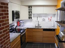 design black and white modern small space kitchen design with