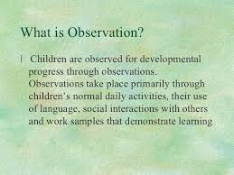 observations and evaluations