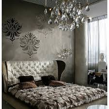 ideas for decorating the bedroom with brown romantic brown bedroom with stencils