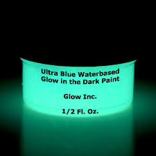 amazon com ultra blue glow in the dark paint 1 2 fluid ounce
