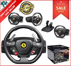 ferrari steering wheel xbox 360 steering wheel racing gaming simulator ferrari 458 pedal
