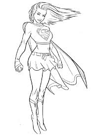 supergirl coloring pages free printable enjoy coloring