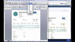 Pages Invoice Templates Quickbooks Online 2016 Tutorial Customizing Invoice Styles Youtube