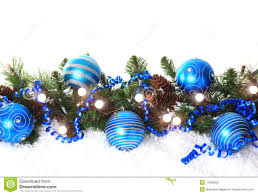 blue christmas blue christmas border stock image image of green branch 11393825