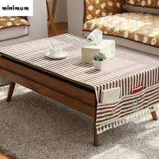 Cover Coffee Table Linen Cloth Coffee Table Tablecloth With Storage Bag Multifunction