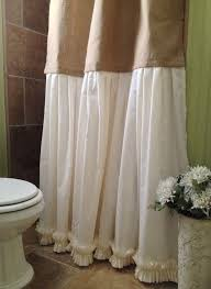 Burlap Shower Curtains Burlap Shower Curtain Shabby Chic Burlap By Simplyfrenchmarket