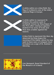 White Flag Meaning Meaning Origin Of The Flag Of Scotland Vexillology