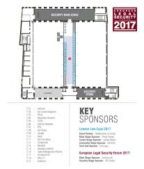floor plan key floor plan 2017 european legal security forum 2017