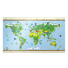 Children S Map Of The World by Children U0027s World Map By Awesome Maps