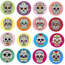 calm mexican sugar skull edible cake per wafer rice paper cupcake