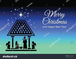 christmas card illustrating birth jesus stock vector 540713089