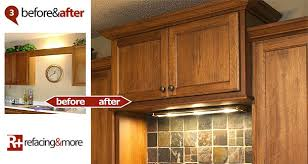 Kitchen Cabinet Valances Cabinet Refacing Refacing U0026more Before And After Gallery