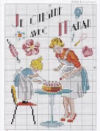 grille d a ation cuisine 440 best point de croix thème cuisine et maison images on