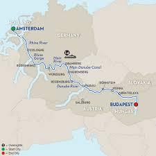 Passau Germany Map by German River Cruises Avalon Waterways