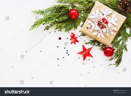 christmas new year background thuja branch stock photo 524280124