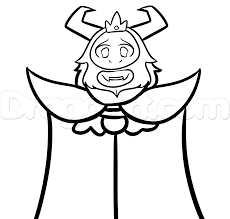 draw asgore undertale step step drawing sheets added