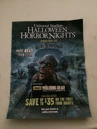 cal state l a discount for universal studios hollywood horror
