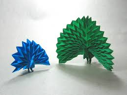Easy Origami Peacock - how to make origami peacock peacock maekawa alfaomega info