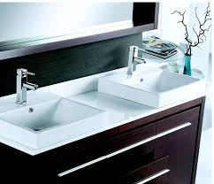 alexa 60 inch modern double bathroom vanity floor standing