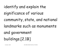 explain the significance of various community state and national