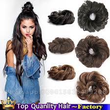 elastic hair band hairstyles synthetic elastic chignon scrunchie buns chignon hairpiece fake