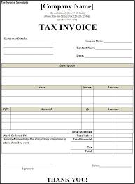 invoice with gst template invoice with gst template free invoice