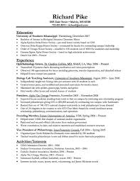 Sample Resume For On Campus Job by Download Chemist Sample Resume Haadyaooverbayresort Com