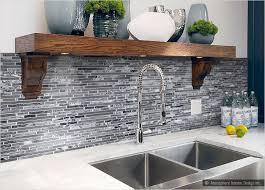 gray kitchen backsplash modern style gray glass tile kitchen backsplash with image 15 of 18