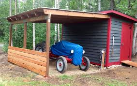 my lean to roof with a shed upgrade for my 1950 8n tractor alaska