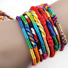 handmade bracelet string images Friendship charm rope bracelet handmade weave thread rope mixed jpeg