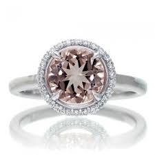morganite engagement ring white gold morganite engagement ring halo plain band