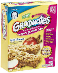 Amazon Com Quaker Chewy Granola Bars Variety Pack 58 Count by Gerber Graduates Chewy Granola Bars Apple Cinnamon 6 Count Bars