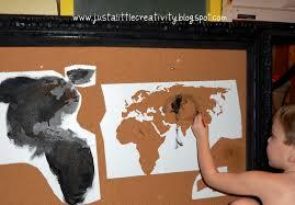World Map Cork Board by Travel Map Cork Board Ballard Inspired Knockoff Just A Little