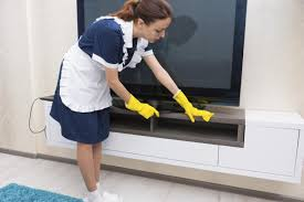 wise advice on how to hire a good and trustworthy housekeeper maid cleaning cabinet
