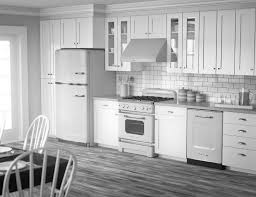 Black And White Kitchen Kitchen by Modern Kitchen Kitchen With White Cabinets And Grey Floors The