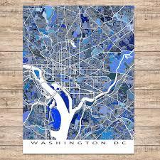 Washington Dc Maps Washington Dc Map Art Print District Of Columbia Usa U2013 Maps As Art
