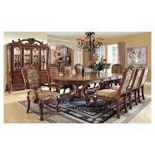 IoHomes Lion Claw Elegant Carved Dining Table WoodAntique Oak - Antique oak kitchen table